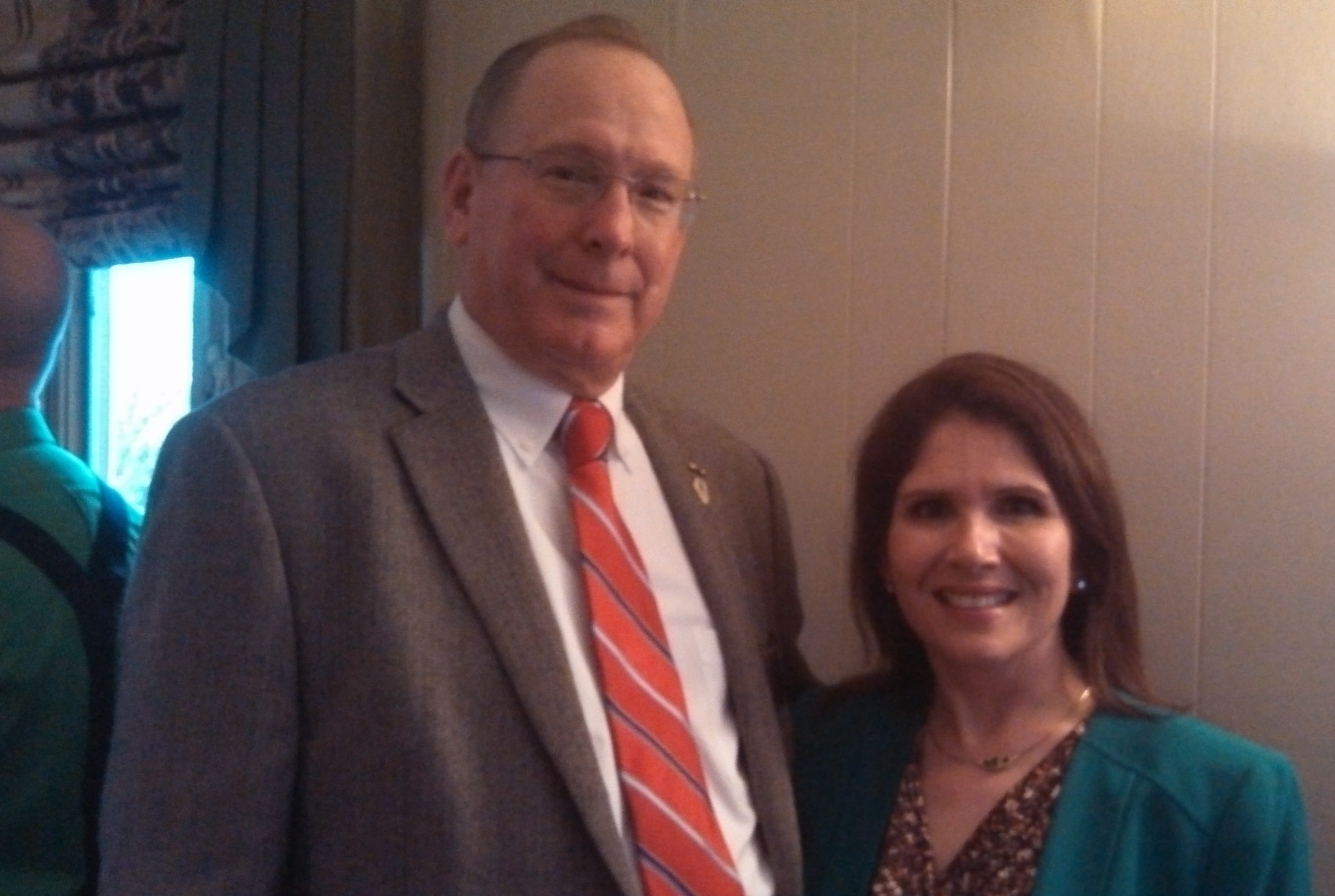 Chairman Kuhn with Lt. Gov. Sanguinetti
